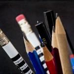 Huiswerk maken met een schrijfpotlood