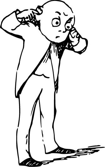 geluiden - cartoon tekening van een mannetje met zijn vingers in zijn oor