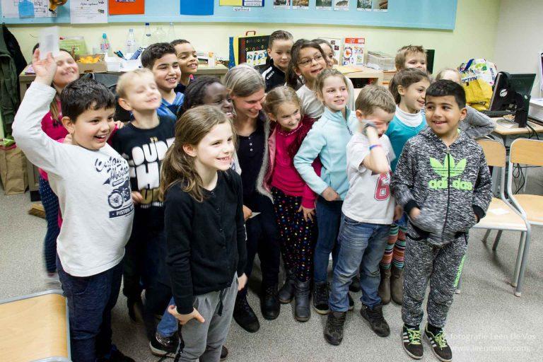 groepsfoto met het tweede leerjaar